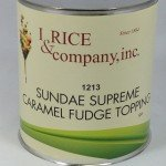 I.Rice Sundae Supreme Caramel Fudge Topping ZRC602