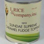 I.Rice Sundae Supreme Caramel Fudge Topping ZRC602